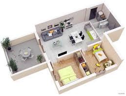 2 Bedroom Designs Small House Design 2 Bedroom 3d Designs Floor Plans 2018 Also