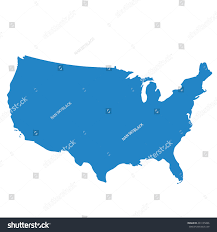 Images Of The Map Of The United States by Blue Map United States Usa Stock Vector 433135066 Shutterstock