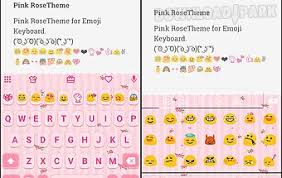 keyboard themes for android free download pink knot emoji keyboard theme android app free download in apk