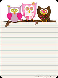 paper to write letters 7 best images of cute printable stationary with lines free free printable owl stationery