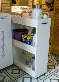 Rolling Bathroom Storage Cart by Slim Rolling Laundry Room Storage Cart Free Diy Plan
