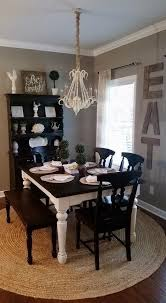 black dining table and hutch rustic farmhouse dining room home decor chalk painted dining table