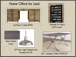 Desks Etc 4 Less A New Home Office Like Restoration Hardware Only Cheaper