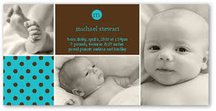 birth announcements andante dots cerulean 4x8 boy birth announcements shutterfly