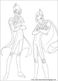 winx club coloring pages free for kids coloring pages