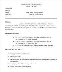 sample resume for call center call center agent sample resume