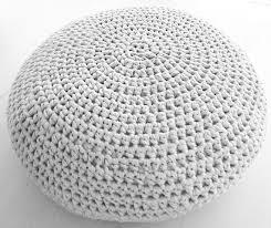 Cushion Ottoman Large Crochet Pouf Ottoman Floor Cushion Pdf Pattern Instant