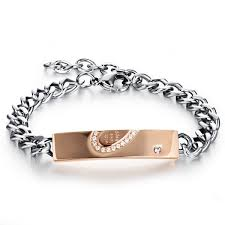 chain bracelet with diamonds images With wish love and happiness couple chain bracelets blazemall jpeg