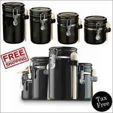 black canister sets for kitchen anchor hocking kitchen canister sets ebay