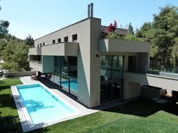 contemporary house in dionysos greece