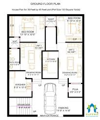 40 Square Feet 1 Bhk Floor Plan For 30 X 40 Feet Plot 1197 Square Feet