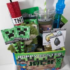 custom easter baskets for kids gifts for kids easy easter basket ideas customized minecraft