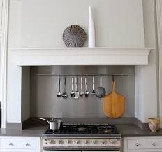 Contemporary cooker range cooker within chimney breast