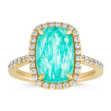 white topaz engagement ring green amazonite and white topaz duet diamond ring shane co