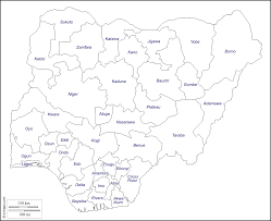Map Of Nigeria Africa by Nigeria Free Map Free Blank Map Free Outline Map Free Base Map