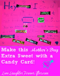 diy candy mothers day card