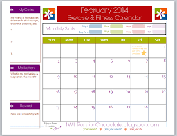 free printable exercise u0026 workout calendar use this planner to