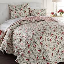 Duvet 100 Cotton Cottage Collection 100 Cotton Cardinal 3 Piece Quilt Set