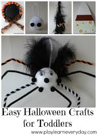 Fun Easy Halloween Crafts by Easy Halloween Crafts For Toddlers Play And Learn Every Day