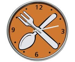 pendules cuisine horloge pendule cuisine lunch couverts bd orange 1177