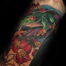 50 tree frog tattoo designs for men amphibian ink ideas