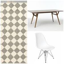 Black And White Checkered Area Rug Gray And White Checkered Carpet Black Wood Eiffel Chair West Elm