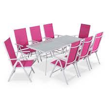 Table Et Chaises De Jardin Leroy Merlin table de jardin en aluminium naevia de leroy merlin meuble et