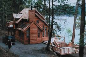 small cabin style house plans vacation house plan home plan 160 1009