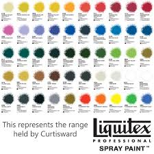 liquitex professional acrylic spray paint 400ml colour chart