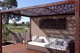 laser cut metal pergolas eclectic patio melbourne by