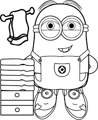 best funny minions make bath coloring page wecoloringpage
