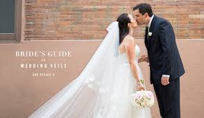 wedding veil styles wedding veils a guide to each type of veil inside weddings