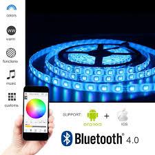 nexlux led light strip solarphy 32 8ft 10m rgb led strip light bluetooth smartphone app