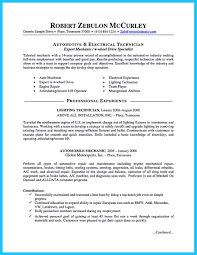 Automotive Resume Examples by Writing A Concise Auto Technician Resume
