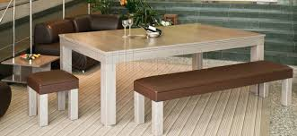 benches dining room pool tables