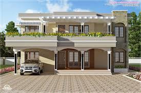 modern flat roof villa sq feet house design plans roof design