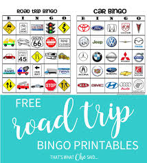 road trip bingo game free printable that u0027s what che said