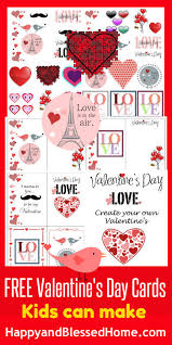 free valentines cards free s day cards kids can make happy and blessed home