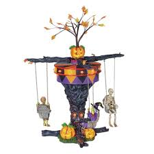 amazon halloween amazon com department 56 village swinging ghoulies home u0026 kitchen