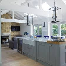 shaker style kitchen ideas grey open plan shaker style kitchen decorating housetohome co
