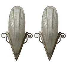 Deco Wall Sconces Pair Of French Art Deco Wall Sconces By Donna Paris U2013 1 Of A Kind Nj