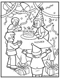 amazing as well as attractive birthday party coloring pages