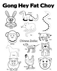 chinese new year coloring pages chinese zodiac new year coloring