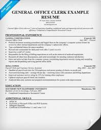 Sample Resume For Payroll Assistant by Resume Sample General Office Clerk Templates