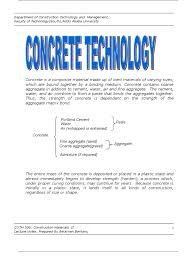 construction management handout prestressed concrete concrete
