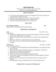 American Resume Examples Chef Resume Examples Resume Format Download Pdf