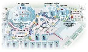 map us open us open map flushing natl tennis cntr cdoovision