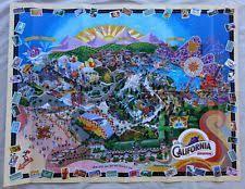 disneyland california adventure map disneyland map disneyana ebay