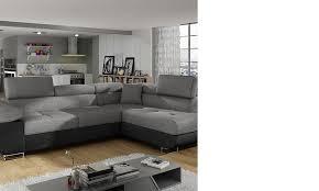 canapé d angle convertible gris canape angle en tissu noir et blanc convertible hcommehome