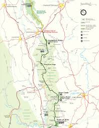Virginia Rivers Map by Blue Ridge Parkway Maps Travel Information Hiking Trails Guides